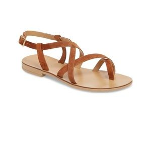 NWT Topshop strappy sandals in tan